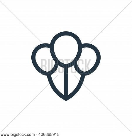 balloons icon isolated on white background from labour day collection. balloons icon thin line outli