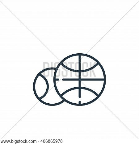 ball icon isolated on white background from children toys collection. ball icon thin line outline li