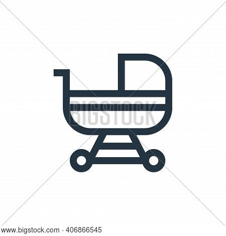 baby stroller icon isolated on white background from insurance collection. baby stroller icon thin l