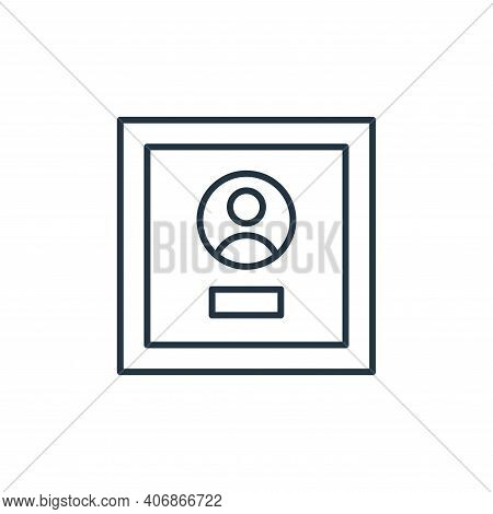 award icon isolated on white background from leadership collection. award icon thin line outline lin