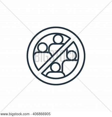 avoid crowds icon isolated on white background from coronavirus disease collection. avoid crowds ico