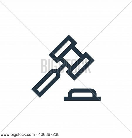 auction icon isolated on white background from management collection. auction icon thin line outline