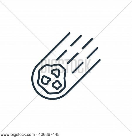 Asteroid icon isolated on white background from space collection. Asteroid icon thin line outline li