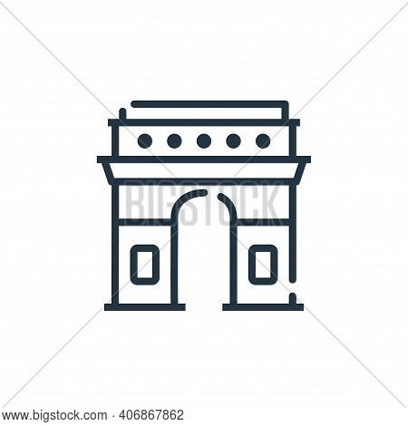 arc de triomphe icon isolated on white background from world monument collection. arc de triomphe ic