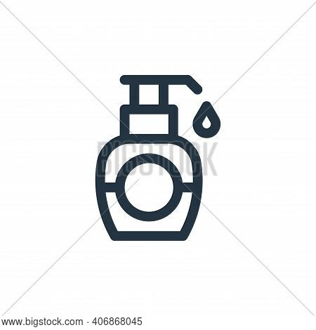antiseptic icon isolated on white background from medicine collection. antiseptic icon thin line out