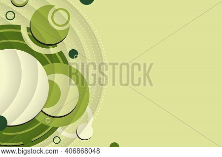 Abstract Background From Geometric Shapes And Circles. Wallpaper For Spring And Summer. Presentation