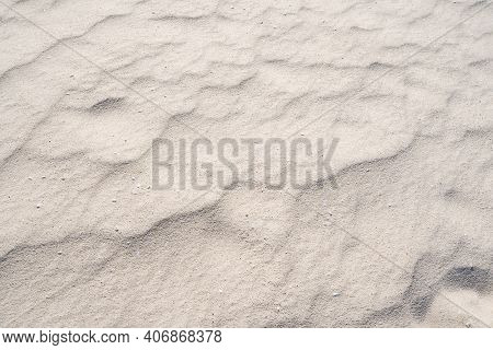 Detail Of Texture Sand In Tropical Island Summer Background And Travel Design.