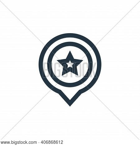 america icon isolated on white background from united states of america collection. america icon thi