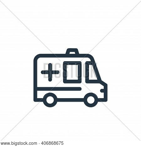 ambulance icon isolated on white background from medical tools collection. ambulance icon thin line