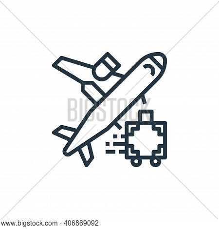 airplane icon isolated on white background from travel collection. airplane icon thin line outline l