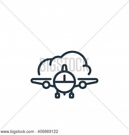 airplane icon isolated on white background from insurance collection. airplane icon thin line outlin