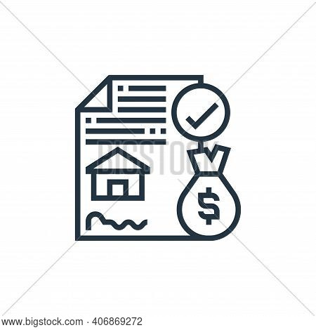 agreement icon isolated on white background from payment element collection. agreement icon thin lin
