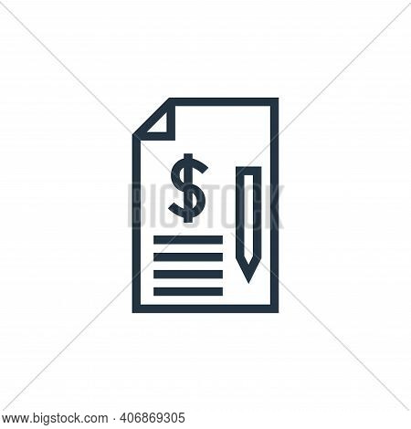 agreement icon isolated on white background from finance collection. agreement icon thin line outlin