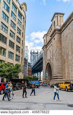 Brooklyn, New York, Usa - September 13, 2019: Brooklyn Historical Society Dumbo New York City