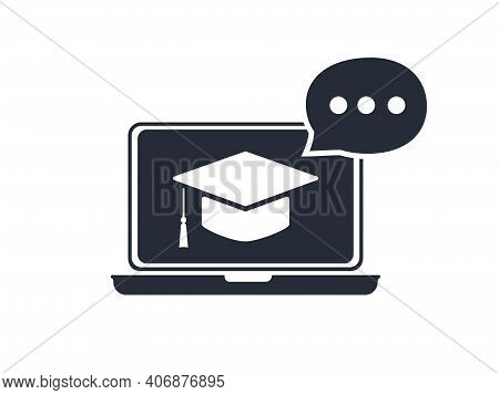 Online Education Resources Vector Line Icon, Online Learning Courses, Distant Education, E-learning