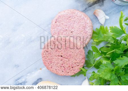Vegeterian Steak, Meat Substitute Analogue, Healthy Food Concept