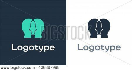 Logotype Bipolar Disorder Icon Isolated On White Background. Logo Design Template Element. Vector