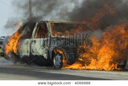 Burning Car