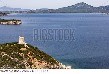 The Photo Shows A Coastal Landscape On The Italian Island Of Sardinia