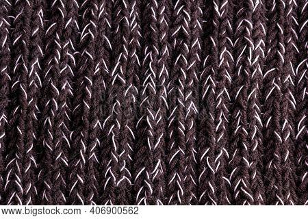 Merino wool handmade knitted fabric texture.