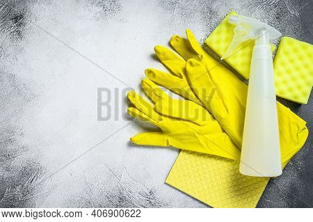 Bathroom And Toilet Yellow Cleaning Concept, Housecleaning, Hygiene, Spring, Chores, Cleaning Suppli