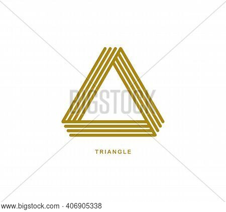 Triangle Linear Vector Symbol Isolated On White Background, Sacred Geometry Ancient Sign, Logo Or Em
