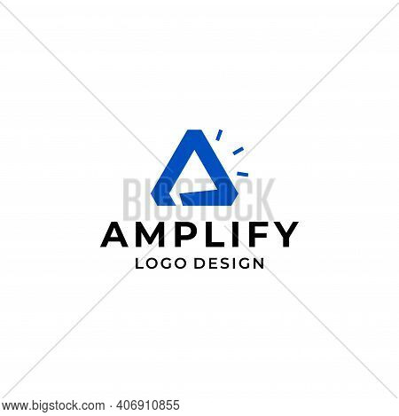Modern And Unique Logo About The Letter A Amplify With Negative Area Design Style. Eps 10, Vector.
