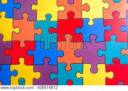 Jigsaw Matts Floor Color Pieces Background