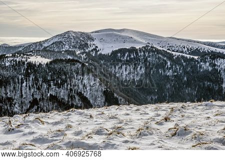 Big Fatra Mountains, Slovak Republic. Snowy Landscape. Seasonal Natural Scene. Travel Destination. H