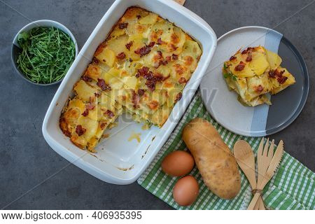 Spanish Potato Omelet Called Tortilla De Patatas