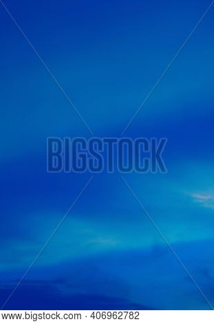 Pop Art Style Gradient Blue Sky With Cloud Layer