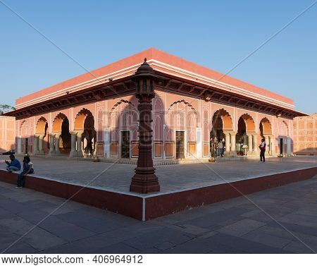Rajasthan, India - 2nd December, 2019: Hall Of Public Audience, Also Known As The Diwan-e-khas At Th