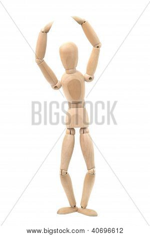 Wooden Dummy In A Ballet Pose