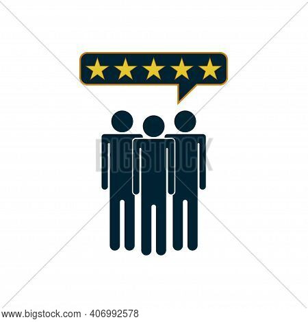 Customers Review Icon. Business, Feedback Or Rating System Concept For Website And Mobile App. Vecto