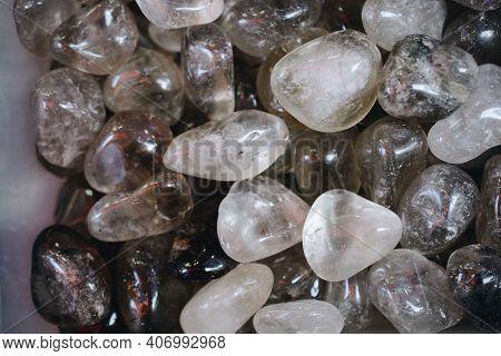 Clear White Rock Crystal Quartz Tumbled And Polished Gemstones