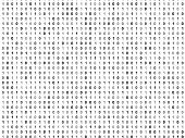 Flat binary code screen binary code zero one poster