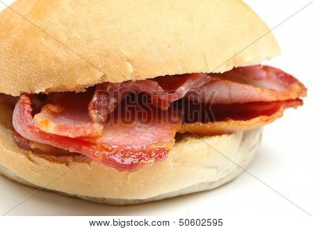 Bacon bap sandwich.