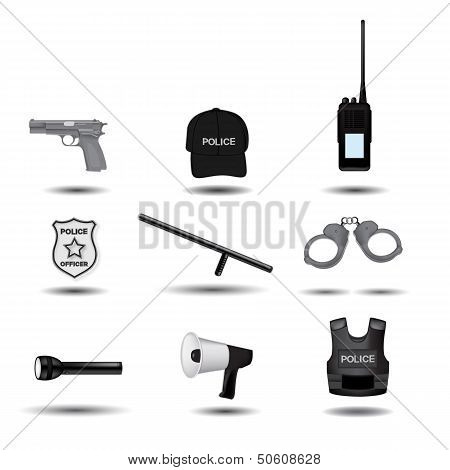 Police Vector Icons