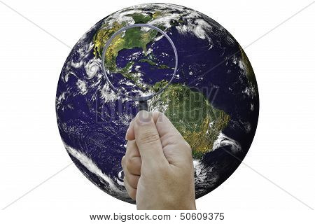 Concept explorer the Earth.