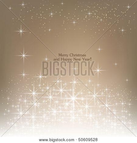 Beige beautiful Christmas background.