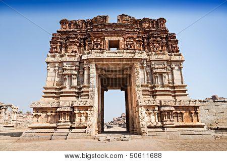 Vijayanagara hindu temple and ruins Hampi India poster