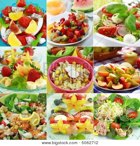 gesunde Lebensmittel collage