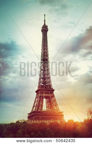 View of the Eiffel Tower in Paris, France poster