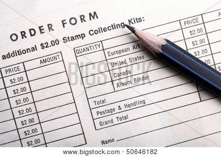 Vintage Order Form Stamp Collecting Kits.
