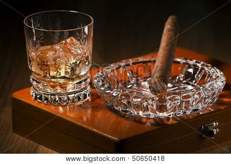 Cigar And Whiskey