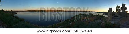 Povoa E Meadas Dam Lake Panorama
