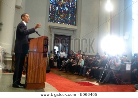 Barack Obama Speaks At At Church