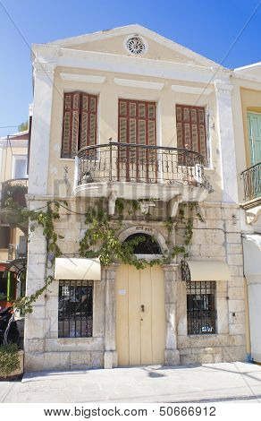 Traditional House In The Island Of Symi, Greece