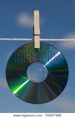 A Cds On A Clotheslines
