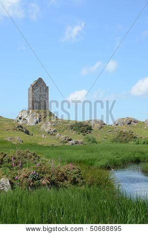 Smailholm Tower and Pond